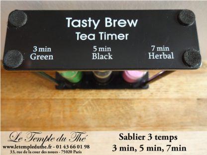 Sablier à thé 3 temps 3, 5, 7 minutes