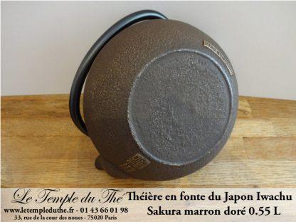 Théière en fonte du Japon Sakura marron doré 0.55 L