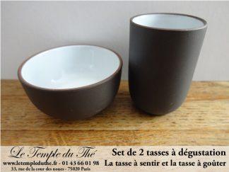 Set de deux tasses pour la dégustation