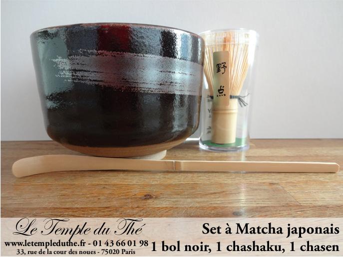 Service japonais à Matcha bol noir