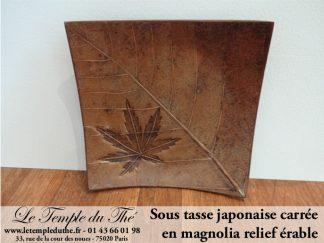 Sous tasse du Japon en magnolia relief en érable