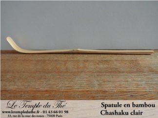 Chashaku clair spatule en bambou pour Matcha cérémonie