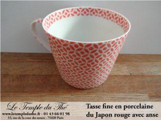 Tasse à thé japonaise rouge très fine du Japon