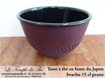 Tasse à thé en fonte du Japon prune Iwachu