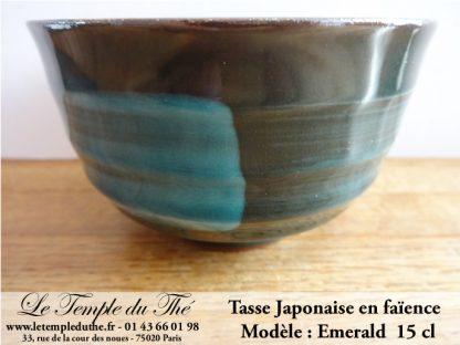 Tasse japonaise 15 cl Emerald en faïence