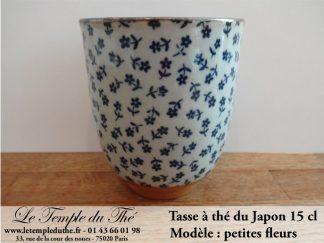 Tasse à thé japonaise 15 cl modèle petites fleurs