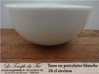 Tasse en porcelaine blanche 10 cl