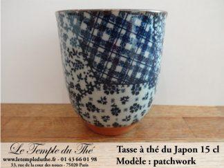 Tasse à thé japonaise 15 cl modèle patchwork