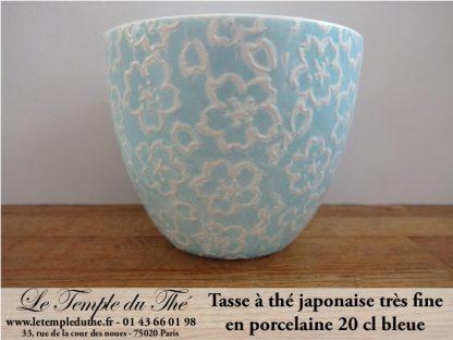 Tasse à thé très fine japonaise 20 cl bleu pâle