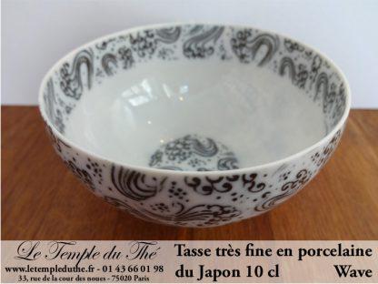 Tasse fine en porcelaine du Japon Wave