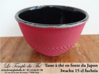 Tasse à thé en fonte du Japon fuchsia Iwachu