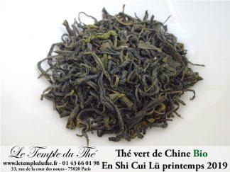Thé vert de Chine En Shi Cui Lü (Hubei) BIO 2019