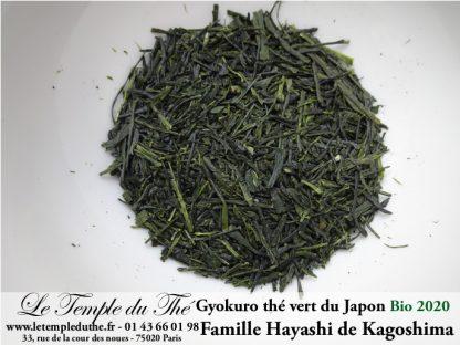 Thé vert du Japon Gyokuro BIO petits producteurs 2020 prix pour 50 g