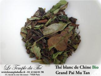 Thé blanc Grand Paï Mu Tan BIO