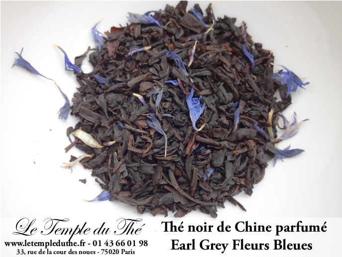 Thé noir de Chine Earl Grey Fleurs Bleues (bergamote)