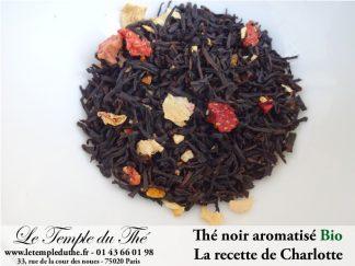 Thé noir Bio aromatisé La recette de Charlotte