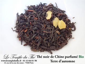 Thé noir BIO de Chine aromatisé terre d'automne