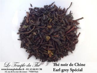Thé noir de Chine Earl Grey Spécial