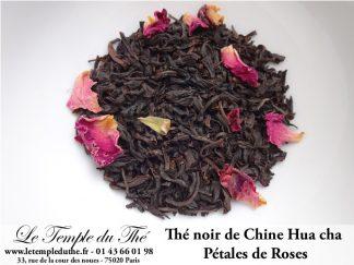 Thé noir de Chine pétales de roses Hua Cha
