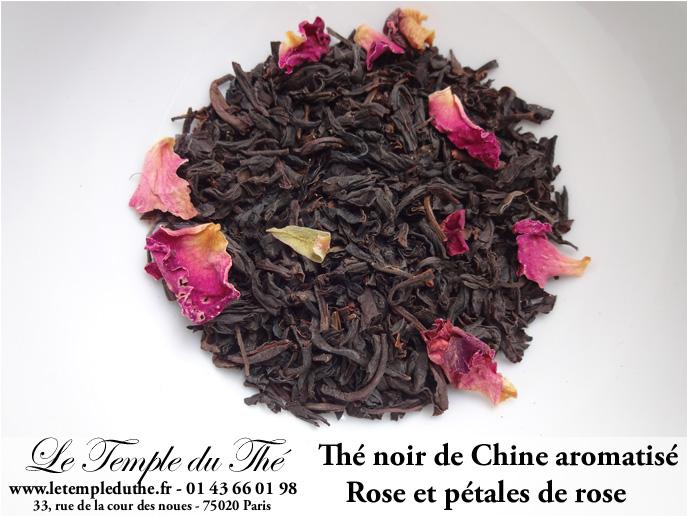 Thé noir de Chine à la Rose