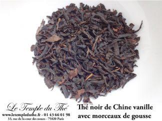 Thé noir de Chine Vanille avec morceaux de gousse