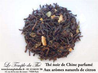 Thé noir de Chine Yunnan aux arômes naturels de citron