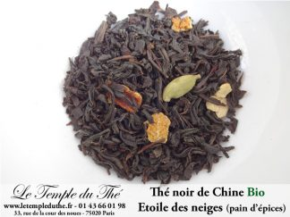 Etoile des neiges thé noir Bio de Chine à la recette du pain d'épices