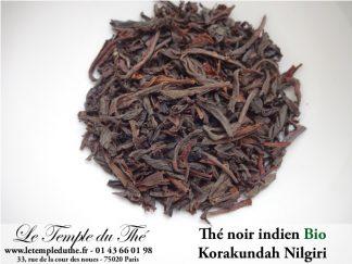 Thé noir indien Nilgiri Korakundah BIO