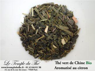 Thé vert de Chine Bio aromatisé au citron