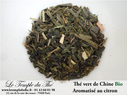 Thé vert de Chine Bio aromatisé citron et citronnelle