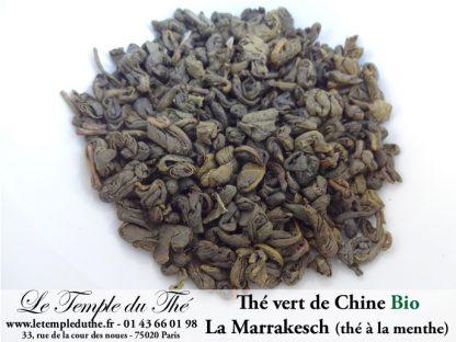 Thé bio vert de Chine parfumé menthe poivrée la Marrakesch