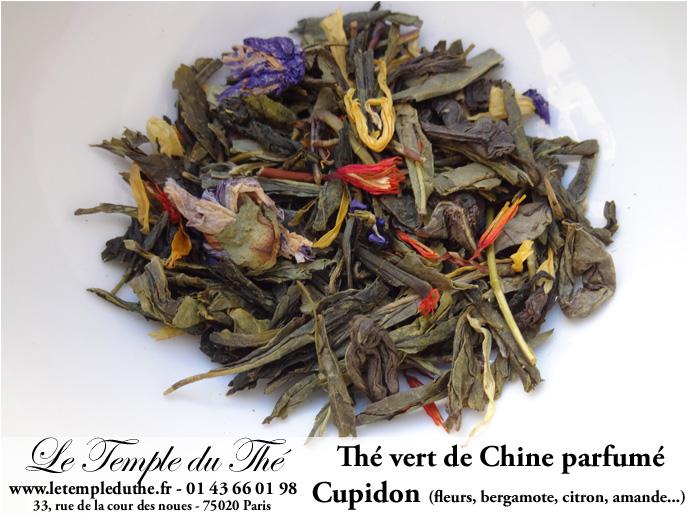Thé vert de Chine Cupidon (fleurs)
