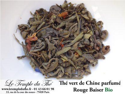 Thé vert de Chine Rouge Baiser (fruits rouges, fruits noirs...)BIO