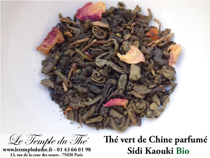 Sidi Kaouki thé vert de Chine bio menthe, rose et fleurs d'oranger