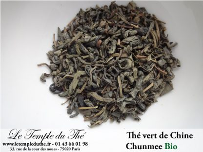 Thé vert de Chine Chunmee Zhejiang BIO