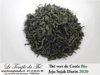 Thé vert Jeju Sejak Durin de Corée BIO