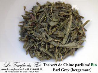 Thé vert bio Earl Grey aromatisé à la bergamote