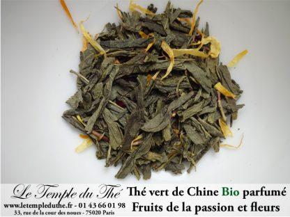 Thé vert de Chine BIO aux fruits de la passion et aux fleurs
