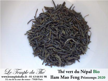 Thé vert du Népal de petits producteurs BIO ILAM MAO FENG 1ère récolte du printemps 2020