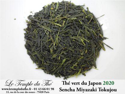 Thé vert du Japon Miyazaki Tokujou première récolte printemps 2020 petits producteurs BIO