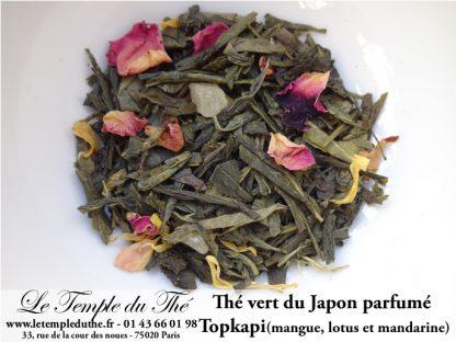 Thé vert japonais Topkapi (mangue, lotus, mandarine)