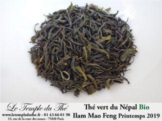 Thé vert du Népal de petits producteurs BIO ILAM MAO FENG 1ère récolte du printemps 2019