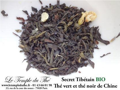 Thé vert et noir de Chine Secret Tibetain (jasmin, lavande …)BIO