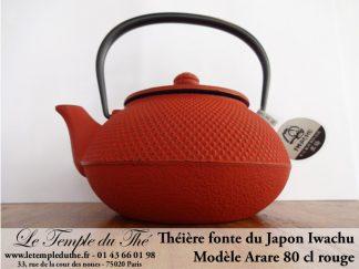 Théière Arare IWACHU Japon 0.8 L rouge