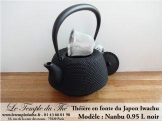 Théière en fonte du Japon IWACHU modèle Nanbu Arare noir 0.95 L