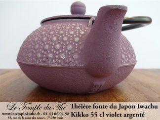 Théière IWACHU en fonte du Japon Kikko 55 cl violet argenté