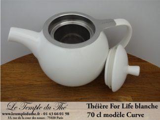 Théière FOR LIFE. Curve 0.7 L blanche