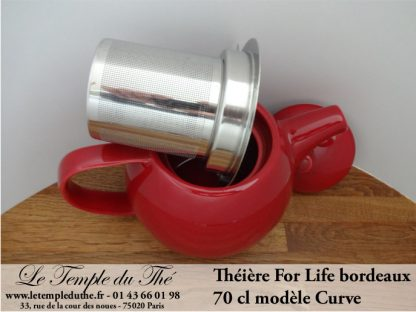 Théière FOR LIFE. Curve 0.7 L bordeaux