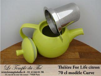 Théière FOR LIFE. Curve 0.7 L vert citron