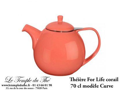 Théière FOR LIFE. Curve 0.7 L corail